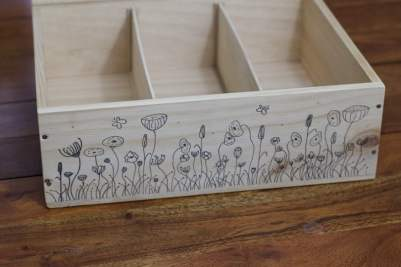 Boîte à graines avec ses cloisons
