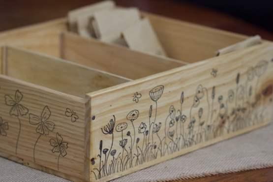 Ma boîte à graines prête pour accueillir les petits sachets kraft