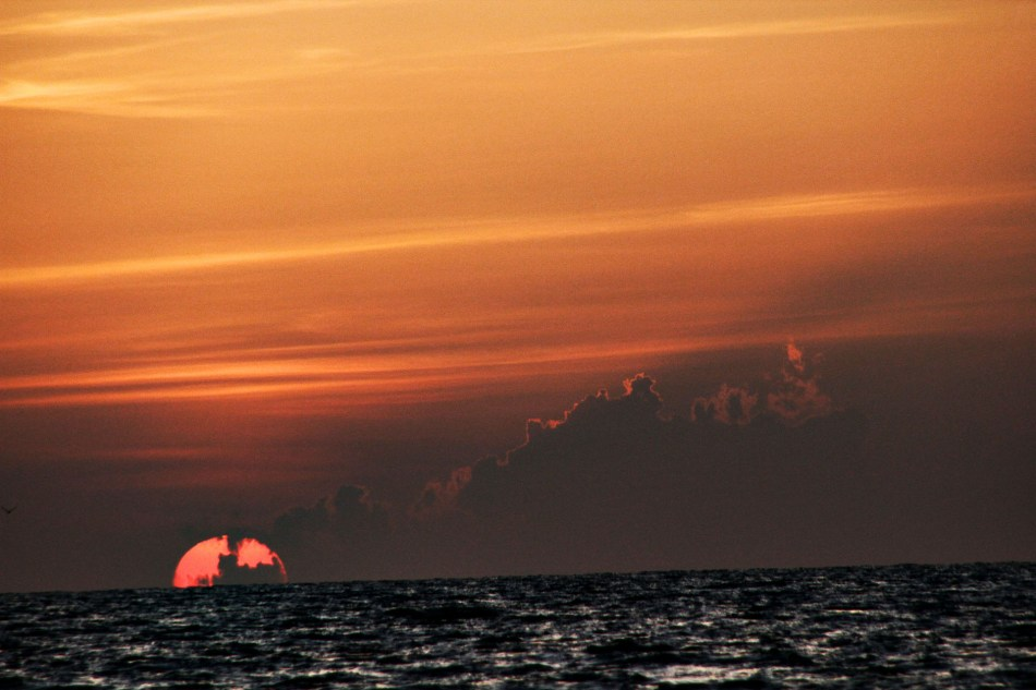 A Sunset off the Coast of Naples