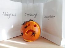 Trick or Treat white paper bags