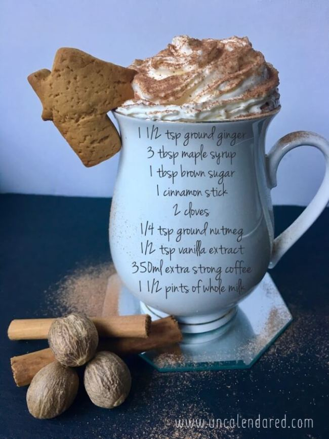 Gingerbread latte recipe. Make in your slow cooker for 4-5 hours on low, or warm on very low on your hob. Christmas joy in your mug. Enjoy!