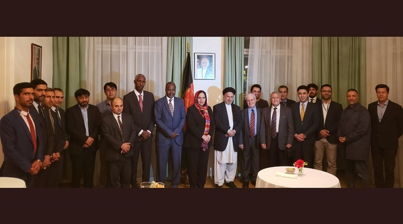Afganistan minister for refugees and ambassador Khojesta hosted president of the UNCAV as well as UN-Journalist for a dinner!