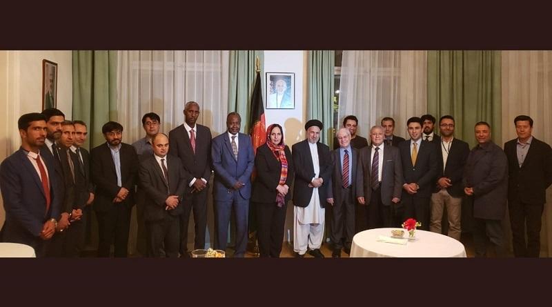Afganistan minister for refugees and ambassador Khojesta hostedpresident of the UNCAV as well as UN-Journalist for a dinner!