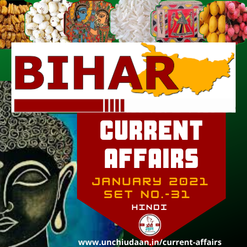 You are currently viewing Bihar Current Affairs January 2021 Set No.31