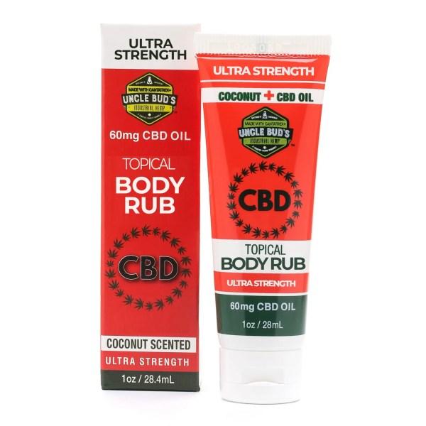 Uncle Bud's 60mg CBD Topical Body Rub