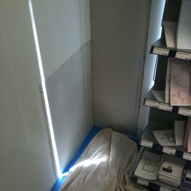 drywall in place