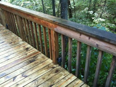 Power Wash Deck in Progress
