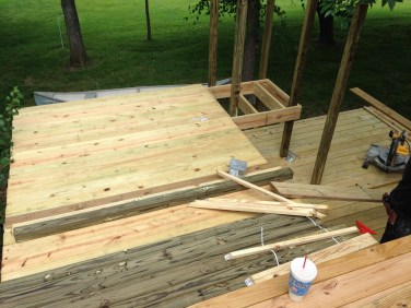 Platform for new deck