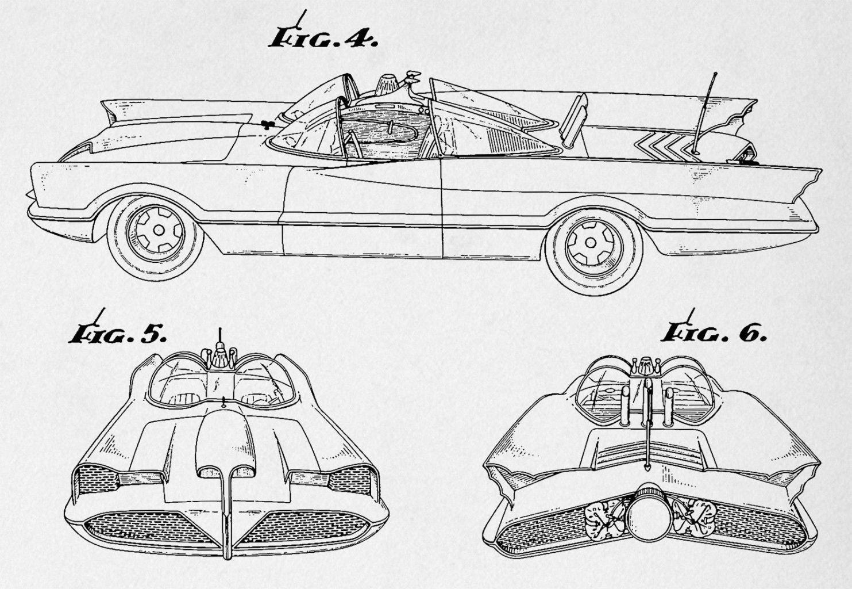 Batman Batmobile Blueprints