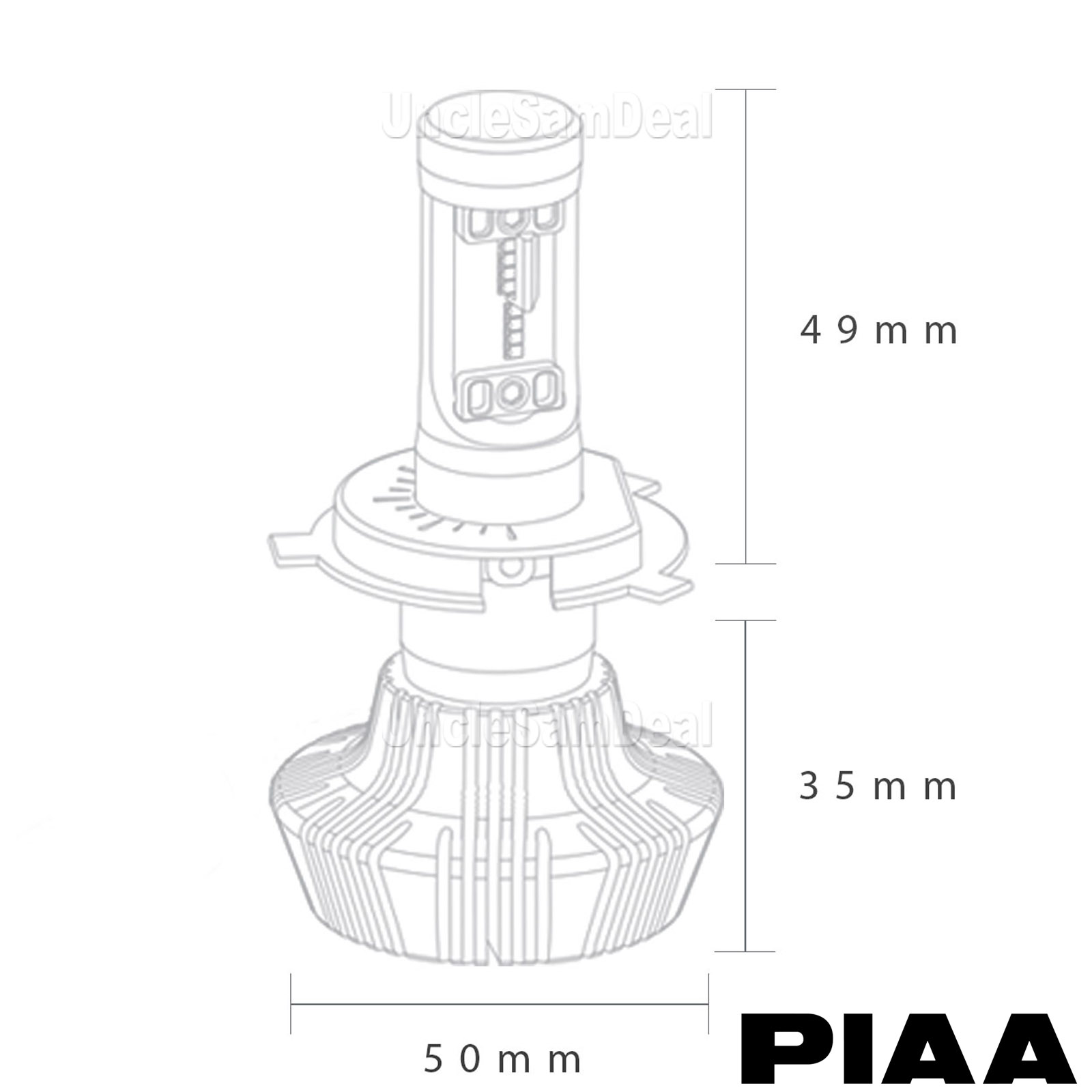 Size H13 Piaa Platinum White Led Bulbs Pair Luxeon