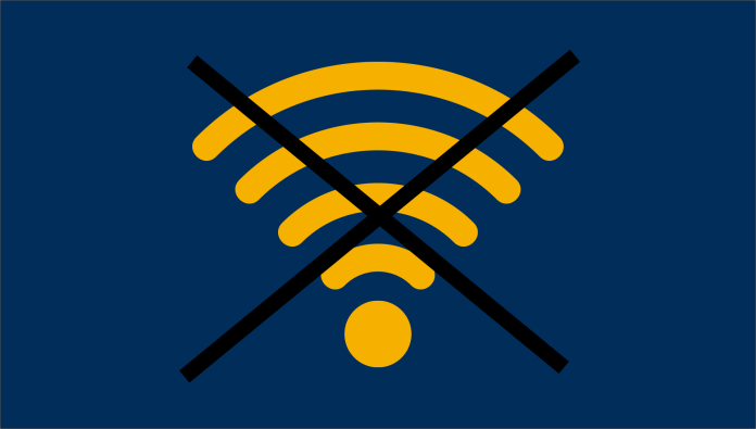 Wifi signal crossed out