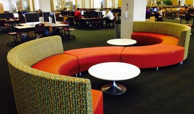 a unique seating area