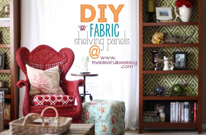fabric backed shelving