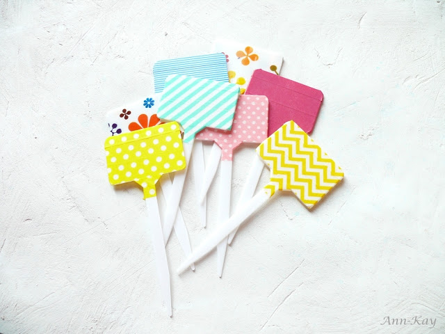 washi tape plant markers