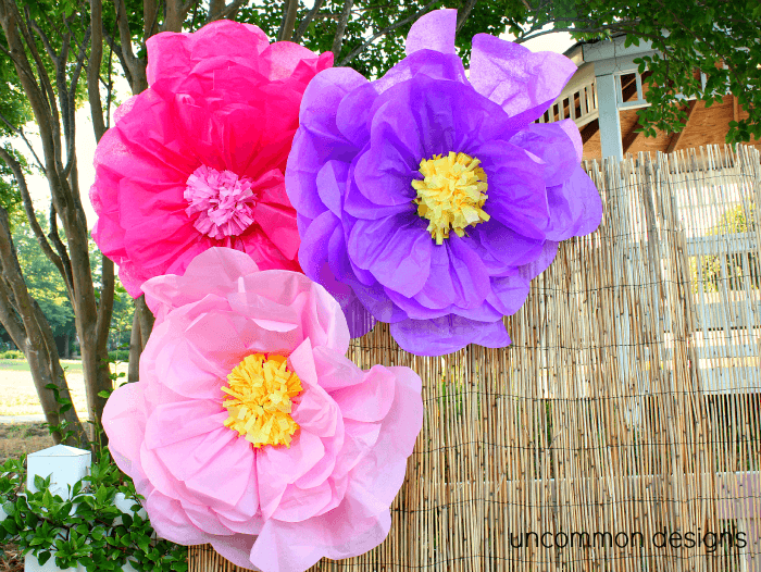 Make the coolest Giant Tissue Paper Flowers ever  Such a cool and easy craft    make giant tissue paper flowers  www