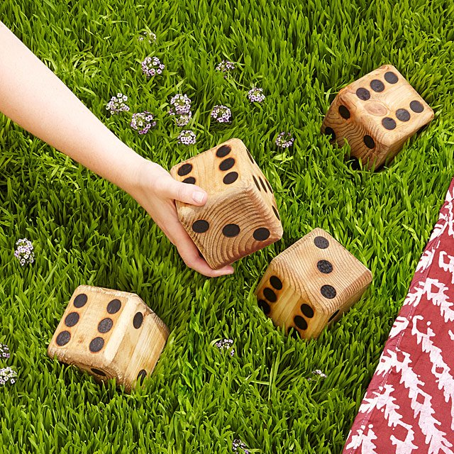 Yard Dice   backyard games  dice  wooden game   UncommonGoods Yard Dice