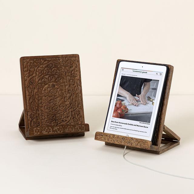 Reclaimed Wood Cookbook Stand | cookbook holder | UncommonGoods