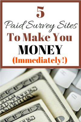 These 5 free survey sites will help you to make extra money online very quickly.Thanks so much for posting these survey sites. I LOVE that these are legit survey sites that actually pay you.
