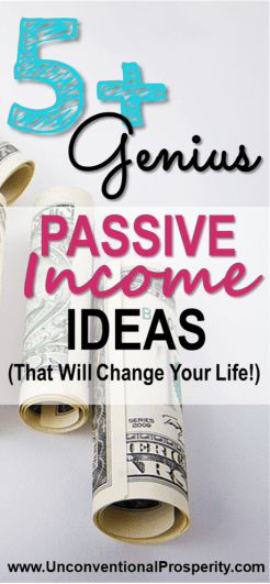 The Best 5 passive income ideas (genius!) for busy people to help make some extra money! I love these money making ideas and I am SURE that you will as well!