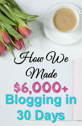 How We Made $6,000+ Blogging in 30 Days. How We Earn Up To $10,000+ Every Month Blogging! We publish blog income reports that explain how we make money online with our blogs. This is a must read if you want to make money blogging.