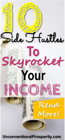 These 10 side hustles could skyrocket your income - we have used these 10 side hustles and made some decent money side hustling over the years! I absolutetly love making money online and these ideas are some of the best ideas to make extra money!