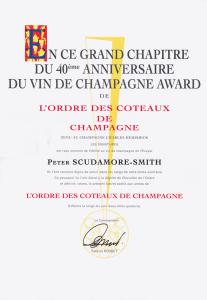 Du Vin de Champagne award