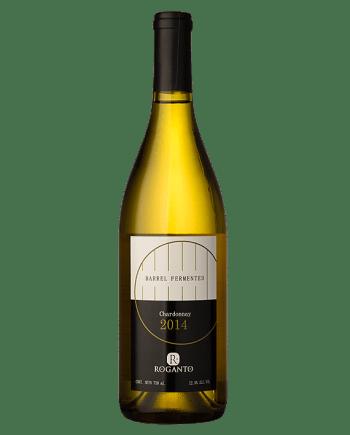 bottle of Roganto Chardonnay Barrel Fermented