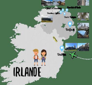 Parcours un couple en vadrouille Irlande du Nord
