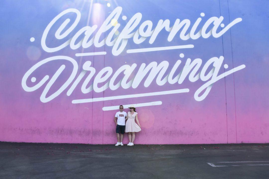 street art California Dreaming à Los angeles