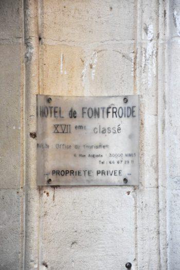 Hotel particulier à Nimes_Hotel de FONTFROIDE