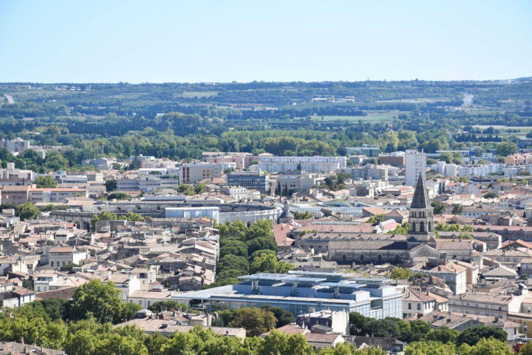Vue sur Nimes depuis la Tour Magne