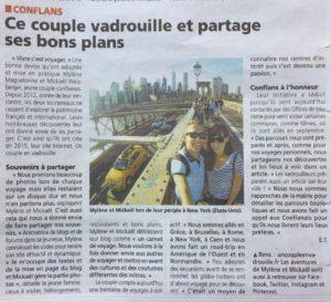 blog voyage un couple en vadrouille dans la gazette du val d'oise_septembre 2018