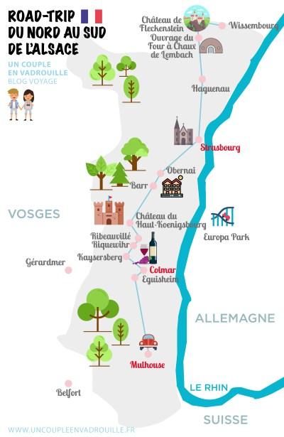 Carte Touristique Alsace Du Nord.Visiter L Alsace Du Nord Au Sud Un Couple En Vadrouille