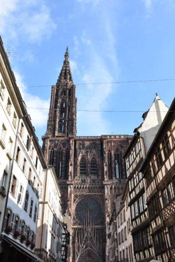 Centre ville de Strasbourg et sa cathédrale notre dame