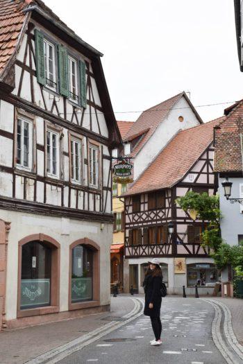 Maisons à colombages dans le centre ville de Wissembourg en Alsace2