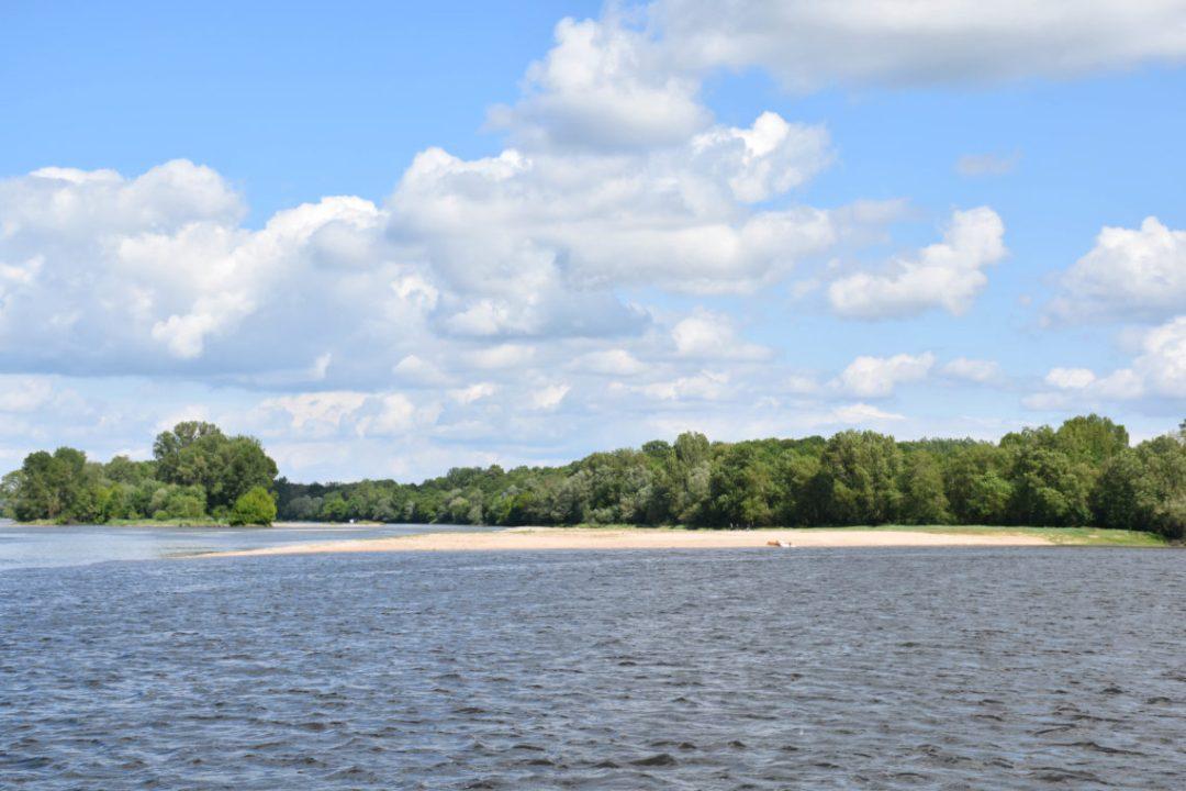 La pointe du confluent entre la Loire et la Vienne