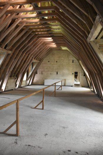 Les combles du chateau de Montsoreau