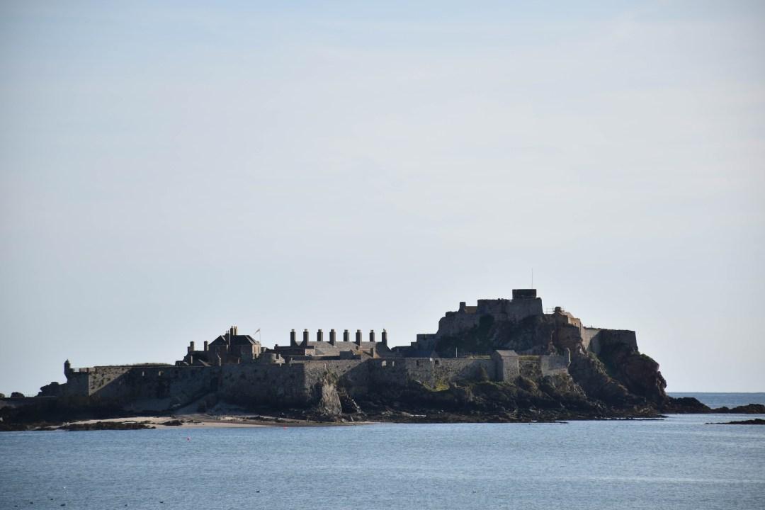 Elizabeth Castle depuis l'ile de jERSEY