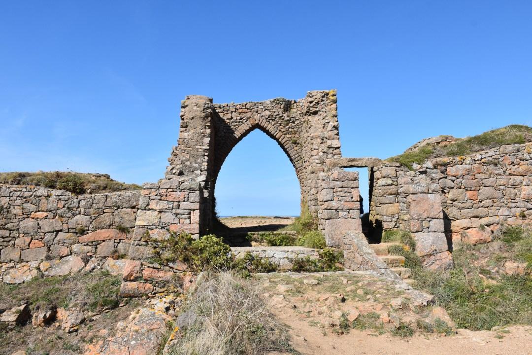 Ruines chateau de Grosnez Point à Jersey