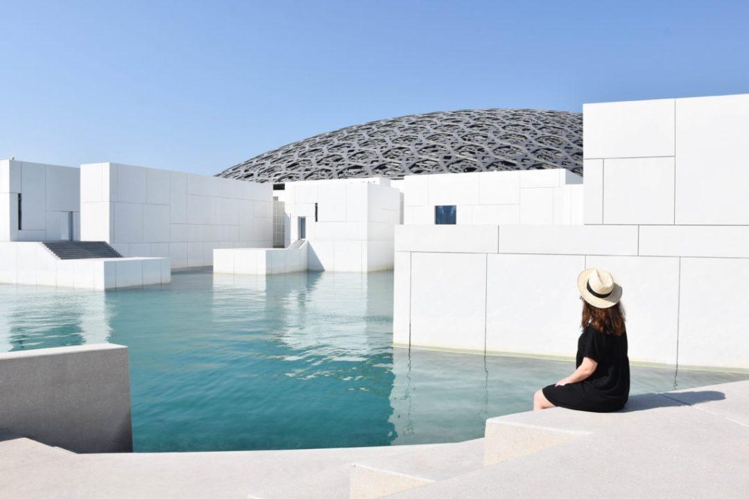 Facade Musée du Loubre d'Abu Dhabi