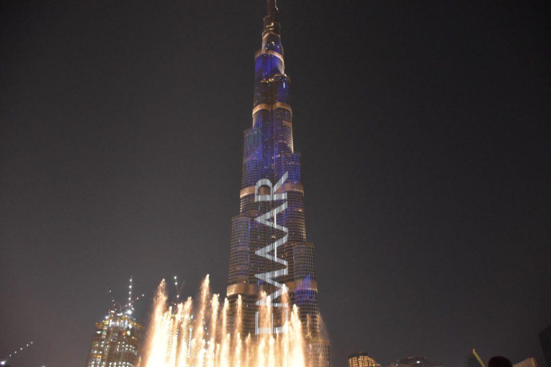 Fontaines du Burj Khalifa à Dubai