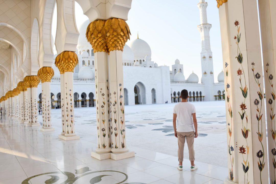 Intérieur de la Mosquée Sheikh Zayed