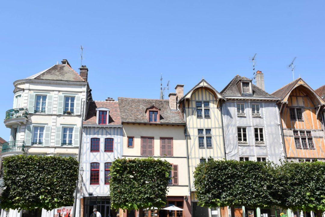 Maisons colorées et à pans de bois à Troyes