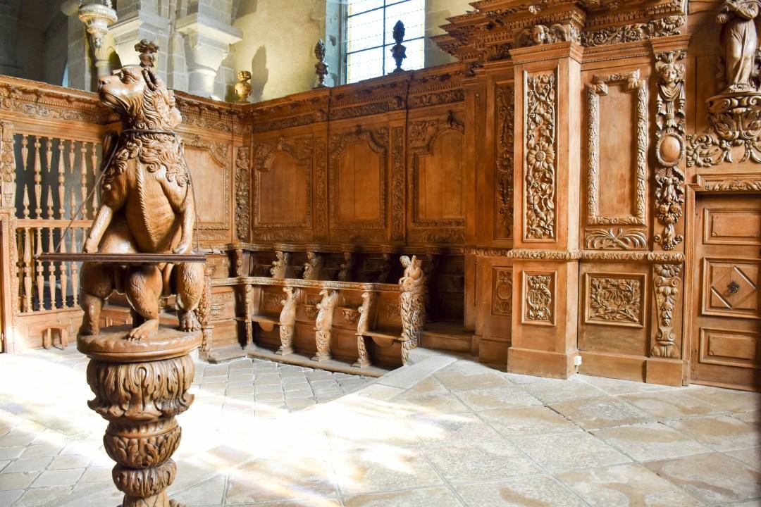 boiseries baroques du XVIIème siècle, sculptées par Simon Bauer et ses compagnons.