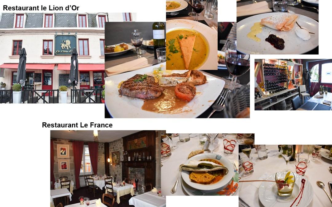 Restaurants à Aubusson
