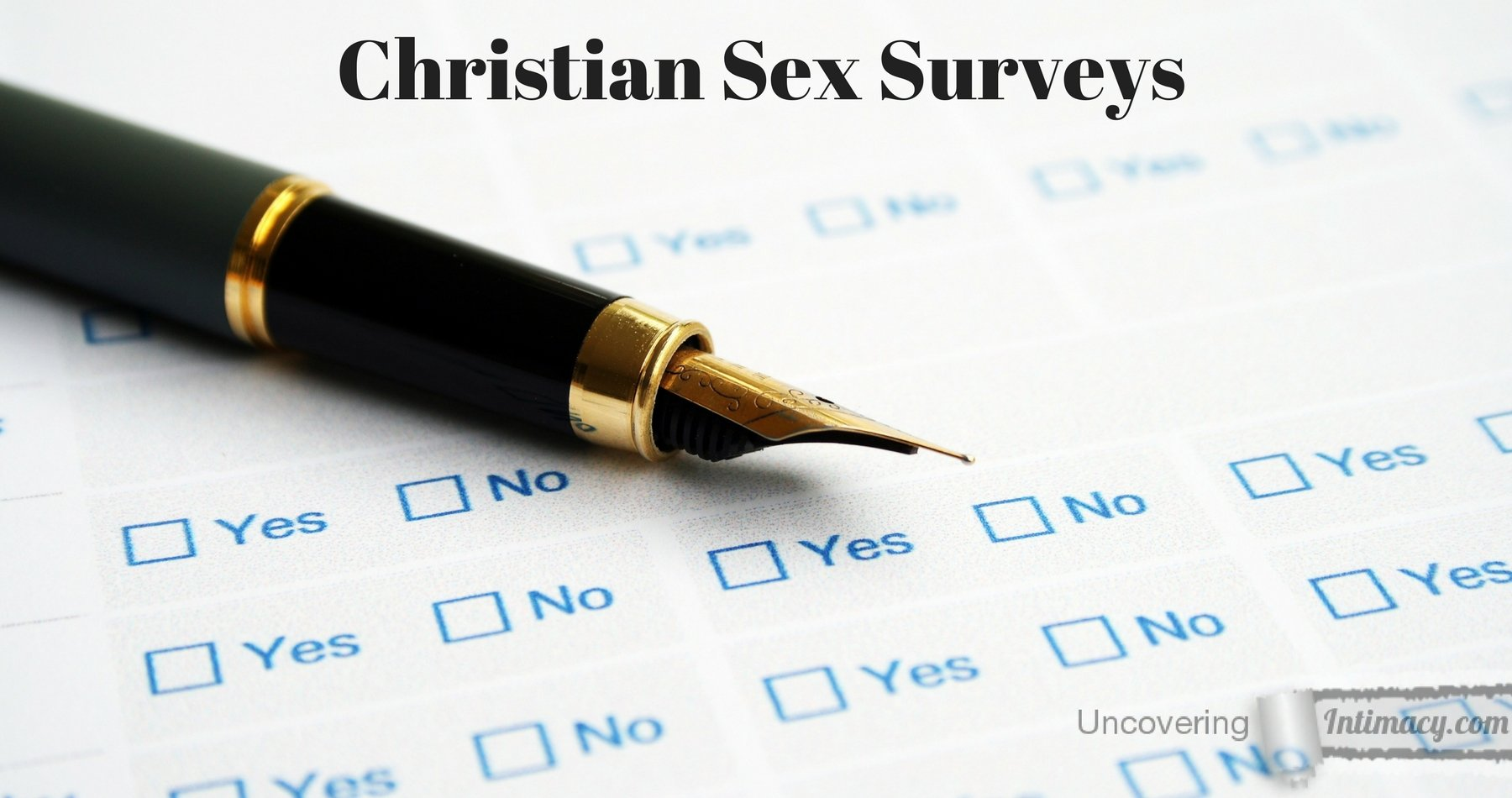 Oral survey christian sex