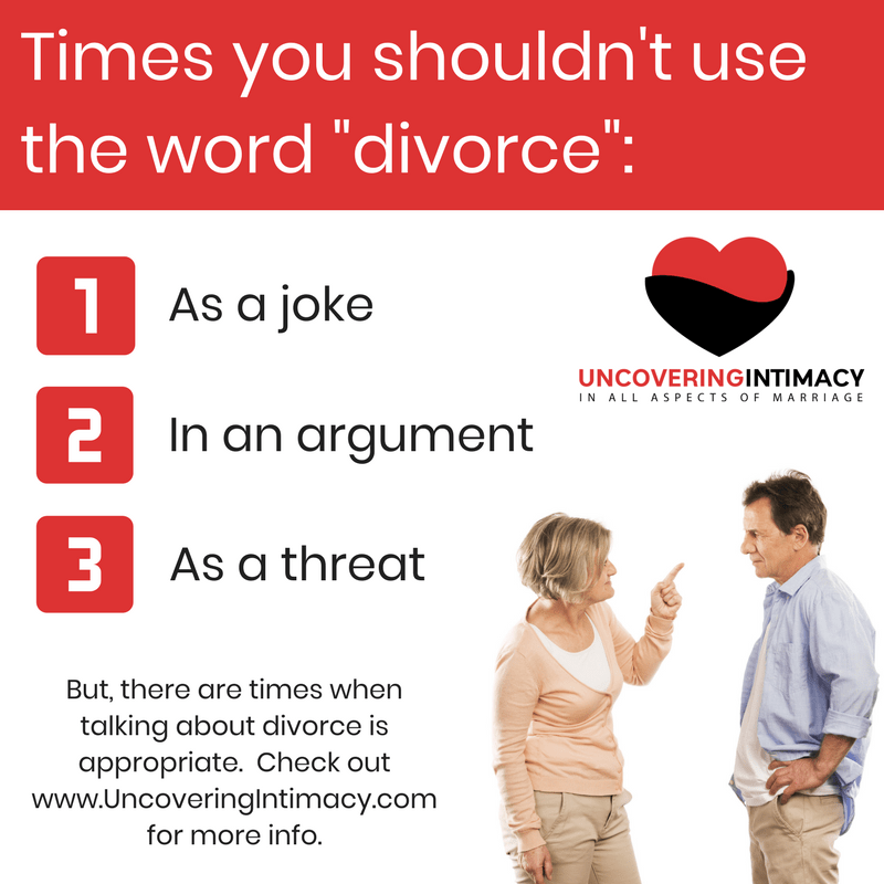 "Times you shouldn't use the word ""divorce"""