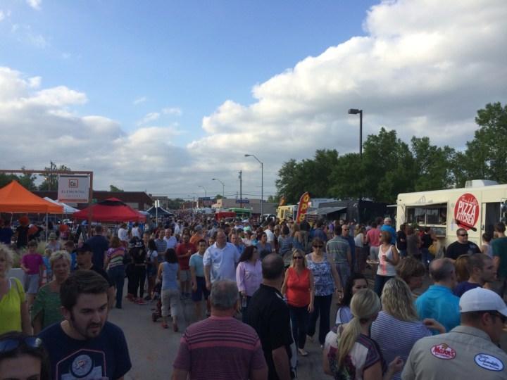 People at June 2014 Market Night. Photo by Dennis Spielman