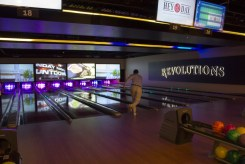 Bowling in the Adults Only section at HeyDay - Photo by Dennis Spielman