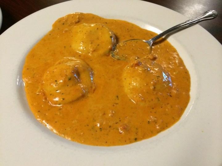 Lobster Ravioli at Fontana Italian Restaurant